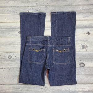 Michael Kors Denim Buckle Pocket Jean
